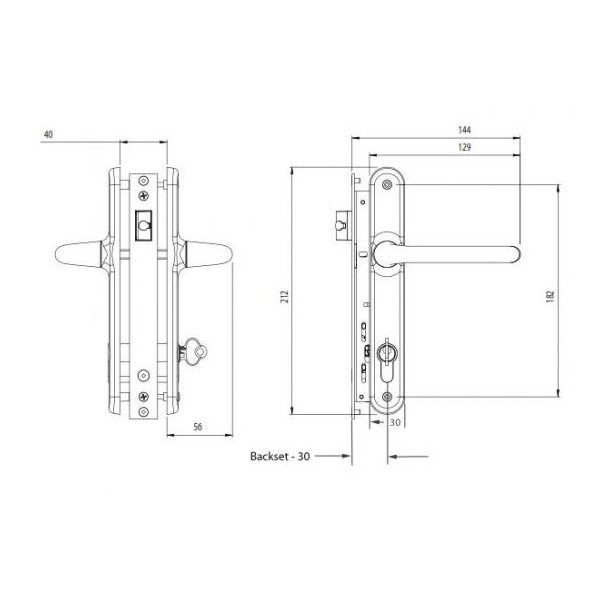 Palladium locking latch (NWL4810PC)